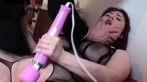 Deepthroated brit slut masturbating