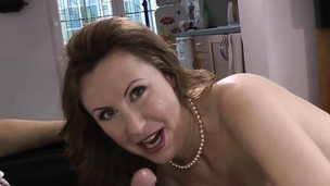 Spermy mouth brit pounded
