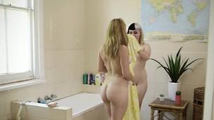 Showering aussies rim