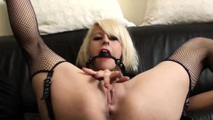 Freaky blonde honey is eager to be punished and pounded tough