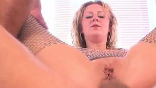 Blonde slut gets to pleasure cockslut big cocks
