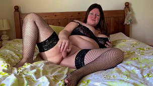 home alone first time filming herself  with Mr Real dildo