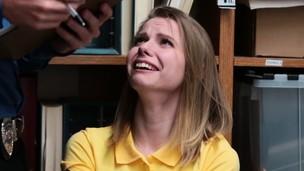 Cum face teen shoplifter