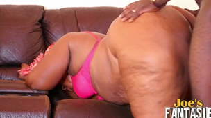 African plumper mature fucked by her youthfull client
