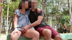 Pussy flash &ndash,  Stranger caught me in the park and helped me squirt