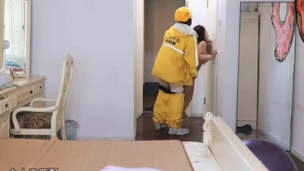Chinese crazy lady fucks deliveryman