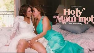GIRLSWAY &ndash,  Abigail Mac Made Bride Adriana Chechik Squirt A Lot
