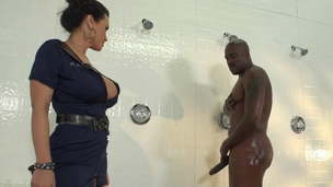 Lisa Ann with BBC in the shower