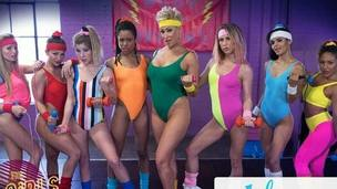 GIRLSWAY &ndash,  80s Exclusive Horny Wailing Gym With Abigail Mac