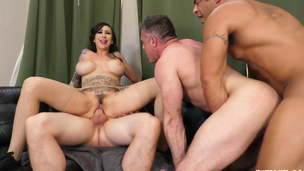 Lily Lane Gets her Boyfriend Screwed in Manhole Threesome!