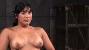 Restrain bondage Meaty Big Tits Woman Sucking White Cock