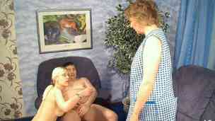 Great GERMAN COUPLE FUCK IN FRONT OF MATURE MAID