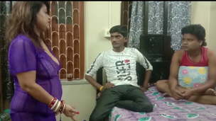 Indian sexy land woman fucked by 2 youthfull bachelor,