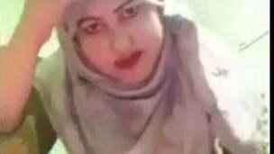 Timid beautiful Hijabi MILF Wife Strip show