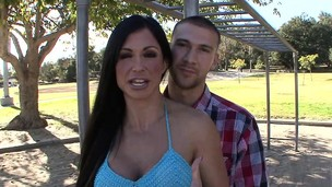 Nasty husband watches Jewels Jade slam another guy